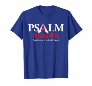 Psalm Reader T-Shirt Blue